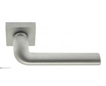 Дверная ручка Fratelli Cattini LINEA 8-CS на квадратной розетке матовый хром