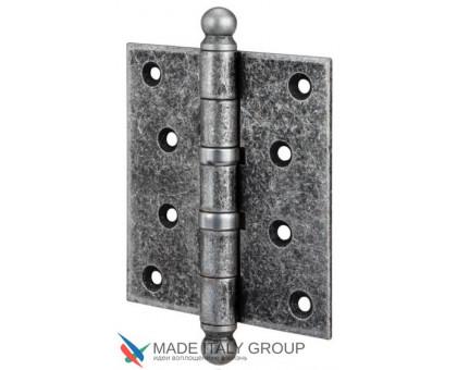 Петля дверная универсальная Aldeghi Premium 136FA403 с пешкой серебро антич. 102х76х3мм