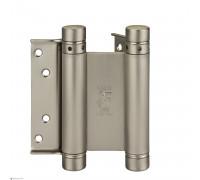 Петля дверная пружинная (барная) амортизирующая Aldeghi 101AN075B2 никель 75x28x34мм