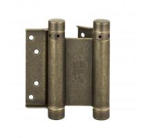 101OA100B2 Дверная петля пружинная амортизирующая + тормоз ALDEGHI 100x33x37 мм античная бронза