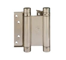 101AN100B2 Дверная петля пружинная амортизирующая + тормоз ALDEGHI 100x33x37 мм никель