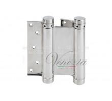 Петля дверная пружинная (барная) амортизирующая 101AN150B + тормоз Aldeghi 148x42x50мм никель