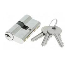 Цилиндровый механизм Extreza AS-60 ключ-ключ 25x10x25 полированный хром F04