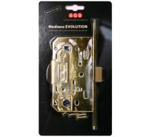 B01101.50.06.579 Замок AGB (АГБ) межкомнатный под ключ (никель) MEDIANA EV. (инд.упак+B01000.40.06)