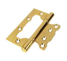 Петля дверная RUCETTI без врезки RFH-100*75*2,5 PG золото