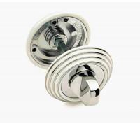 Завертка сантехническая Adden Bau Wc V003 ENAMEL CHROME Белый/хром