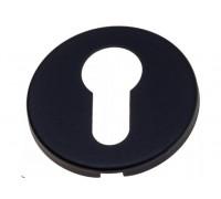 Накладка под цилиндр на круглом основании Fratelli Cattini CYL 7FS-NM матовый черный 2 шт.