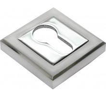 Накладки на ключевой цилиндр Rucetti RAP KH-S SN/CP Цвет - Белый никель/хром