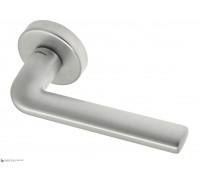 Дверная ручка Fratelli Cattini LINEA 7-CS на круглой розетке матовый хром