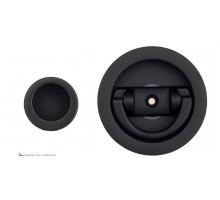 Ручка для раздвижной/распашной двери на круглом основании Venezia U155 черный