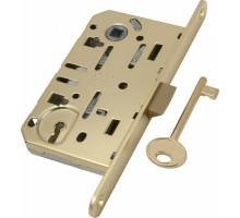 B01101.50.03.579 Замок AGB (АГБ) межкомнатный под ключ (латунь) MEDIANA EV. (инд.упак+B01000.40.03) без ответной планки