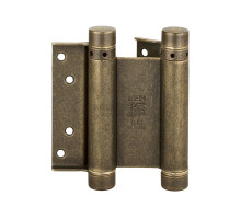 Петля дверная (барная) пружинная амортизирующая 101OA150B + тормоз Aldeghi 148x42x50мм античная бронза