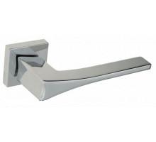 """Дверная ручка на квадратном основании Fratelli Cattini """"OSSIS"""" 8FS-CR полированный хром"""