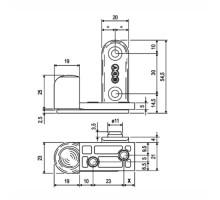 Петля скрытой установки E10006.41.93 AGB 2R Черный (комплект 2 шт.)