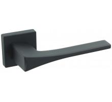 """Дверная ручка на квадратном основании Fratelli Cattini """"OSSIS"""" 8FS-NM матовый черный"""