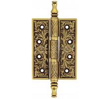 Дверная петля Extreza 6110 универсальная латунная 102x76x4 французское золото + коричневый F59 (1шт.)