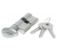 Цилиндровый механизм Extreza AS-60С ключ-вертушка 25x10x25 полированный хром F04