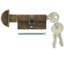Цилиндровый механизм Extreza AS-60С ключ-вертушка 25x10x25 античная бронза F23