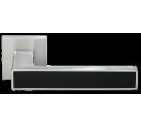 """Дверные ручки MORELLI DIY MH-48-S6 SC/BL """"Sulla"""" Цвет - Матовый хром/чёрный"""