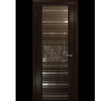 Межкомнатная шпонированная дверь Арт Деко Premium Спациа-3 Silver