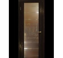 Межкомнатная шпонированная дверь Арт Деко Premium Спациа Gold
