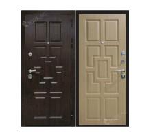 Металлическая дверь Квадро Тиковое дерево