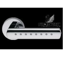 "Дверная ручка DND ""Виста"" VS12 OC кристаллы Swarowski, хром блестящий"