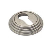 Накладка круглая под евроцилиндр Adden Bau SC V001 Состаренное серебро