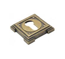 Накладка квадратная под евроцилиндр Adden Bau SC VQ001 Состаренная бронза