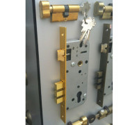 Замок с цилиндром LOCK 4585 5-60B D золото