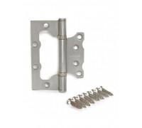 Петля стальная универсальная без врезки Apecs 100*75*2,5-B2-Steel-NIS сатин