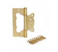 Петля стальная универсальная без врезки Apecs 100*75*2,5-B2-Steel-GM-Blister матовое золото