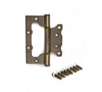 Петля стальная универсальная без врезки Apecs 100*75*2,5-B2-Steel-AB бронза