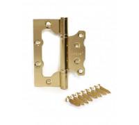Петля стальная универсальная без врезки Apecs 100*75*2,5-B2-Steel-G золото