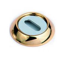 Накладка круглая под флажковый ключ OB 2 золото