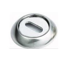 Накладка круглая под флажковый ключ SILLUR OB S.CHROME матовый хром