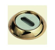 Накладка круглая под флажковый ключ SILLUR OB S.GOLD матовое золото