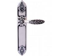 Ручка Дверная На Планке Class 1060/1010 Shamira CYL Серебро 925 + черный