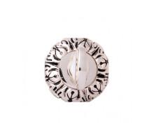 Дверная Завертка CLASS Rose 60 Mm Серебро 925 + черный