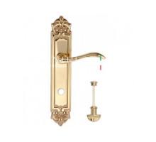 "Дверная ручка Extreza ""AGATA"" (Агата) 310 на планке PL02 WC полированное золото F01"