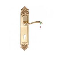 "Дверная ручка Extreza ""AGATA"" (Агата) 310 на планке PL02 CYL полированное золото F01"