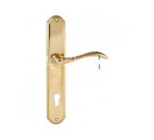 "Дверная ручка Extreza ""AGATA"" (Агата) 310 на планке PL01 CYL полированное золото F01"