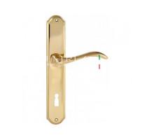 """Дверная ручка Extreza """"AGATA"""" (Агата) 310 на планке PL01 KEY полированное золото F01"""