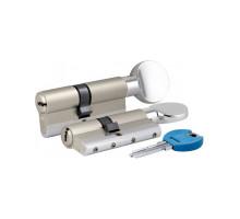 Цилиндровый механизм c вертушкой 164 YGSM/68 (26+10+32) mm никель 5 кл.