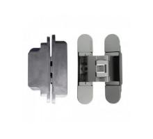 KUBICA 3000 DXSX, CR.SAT петля скрытая универсальная для дверей с притвором до 10мм МАТ. ХРОМ (60кг)