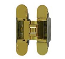 KUBICA 3000 DXSX, GOLD петля скрытая универсальная для дверей с притвором до 10мм ЗОЛОТО (60 kg)
