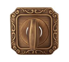 Завертка Melodia Wc на квадратной розетке Q Матовая бронза