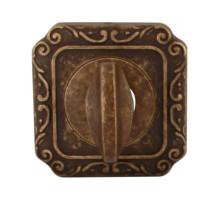 Завертка Melodia Wc на квадратной розетке Q Античная бронза