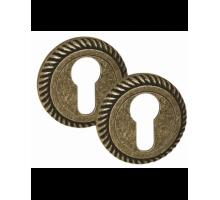Накладка дверная под цилиндр PALIDORE CL4 ABB античная бронза