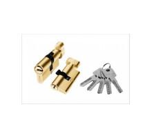 Цилиндровый механизм алюминиевый PALIDORE TURDUS А-60 ключ/завертка РВ золото
